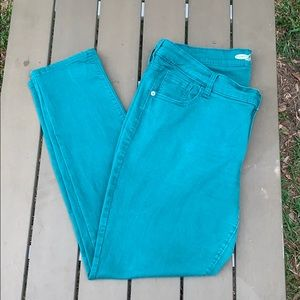 💎 Old Navy Teal Rock Star Plus Size Skinny Jeans